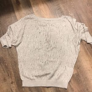 Gold/silver cut-out sweater